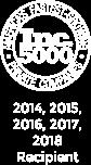 INC. 500 Recipient 2014, 2015, 2016